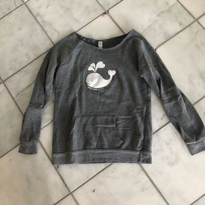 Wide Neck Whale Sweatshirt